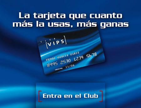 Grupo Vips - Display y díptico Club Vips